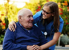 home care support working assisting senior with transportation